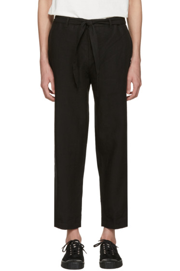 Tomorrowland - Black Linen Easy Trousers