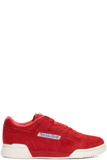 Reebok Classics - Red Suede Vintage Workout Sneakers