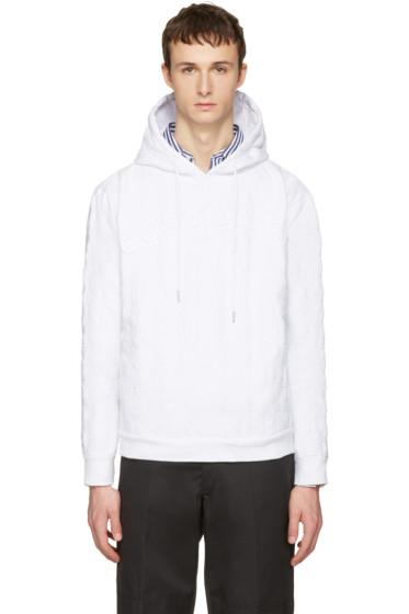 Telfar - White 'Customer' Embroidered Hoodie