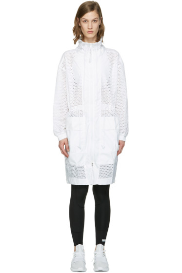 adidas by Stella McCartney - White Perforated Train Parka