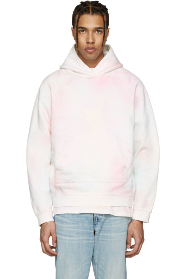 John Elliott - Multicolor Oversized Cropped Tie-Dye Hoodie