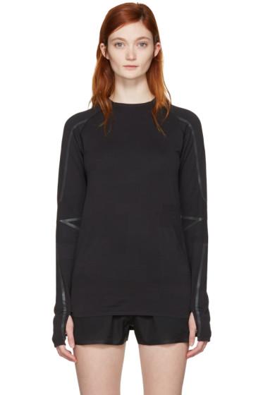 Y-3 SPORT - Black Fine Knit T-Shirt