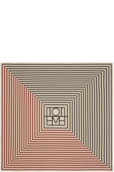 Totême - ネイビー & レッド モンテネグロ スカーフ