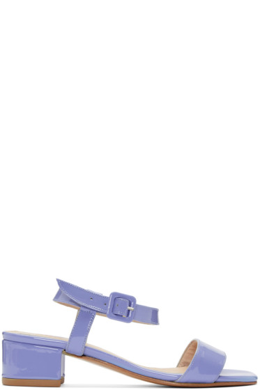 Maryam Nassir Zadeh - Purple Patent Leather Sophie Sandals
