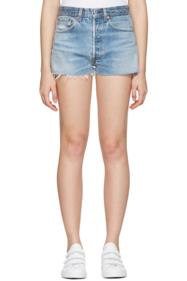 Re/Done - Blue The Classic Shorts