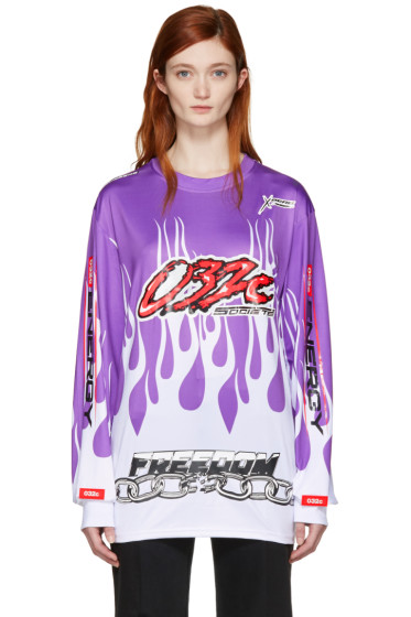 032c - Purple Motocross Flame T-Shirt