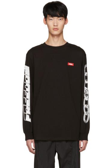 032c - ブラック チェーン T シャツ