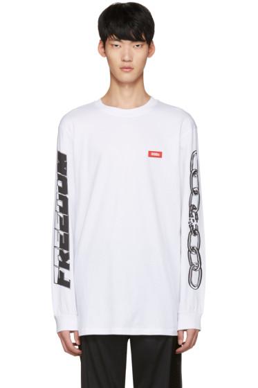 032c - ホワイト チェーン T シャツ