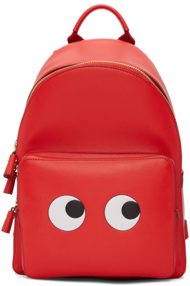 Anya Hindmarch - Red Mini Eyes Right Backpack