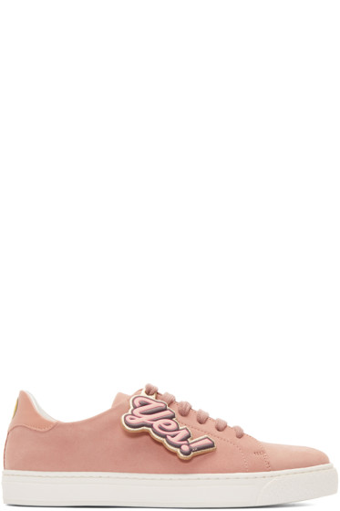 Anya Hindmarch - Pink Wink & 'Yes' Tennis Sneakers