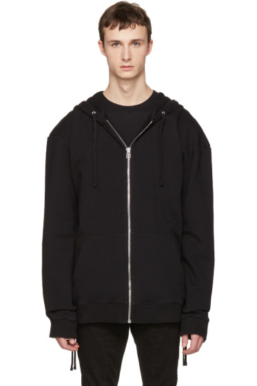 Faith Connexion - Black Laced Zip-Up Hoodie