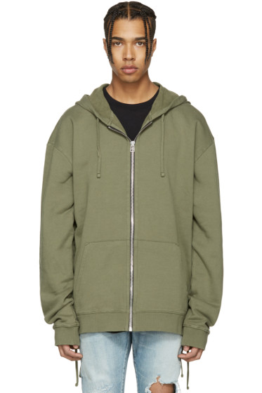 Faith Connexion - Green Laced Zip Hoodie