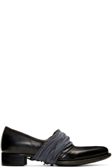 Cherevichkiotvichki - Black Two-Piece Low Loafers
