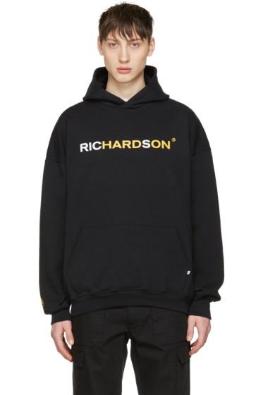 Richardson - Black Logo Hoodie