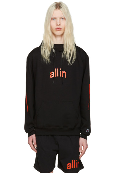 all in - Black Champion Edition Logo Hoodie