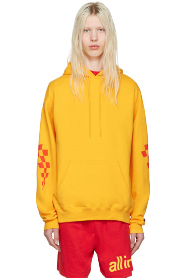all in - Yellow Champion Edition Logo Hoodie