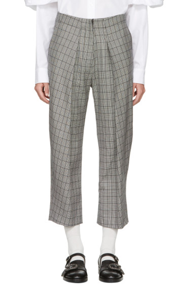 Ashley Williams - Black & Ivory 'Prince Of Wales' Trousers