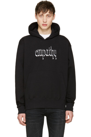 Resort Corps - Black Embroidered Empathy Hoodie