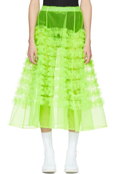 Molly Goddard - Green Tulle Melanie Ruffle Skirt