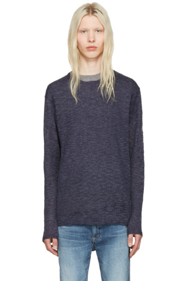nonnative - Navy Linen Clerk Sweater