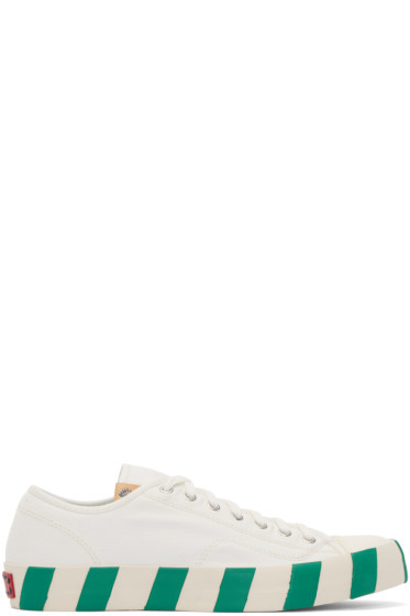 Visvim - White Skagway Lo Stripes Sneakers