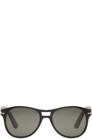 Persol - Black Matte Aviator Sunglasses