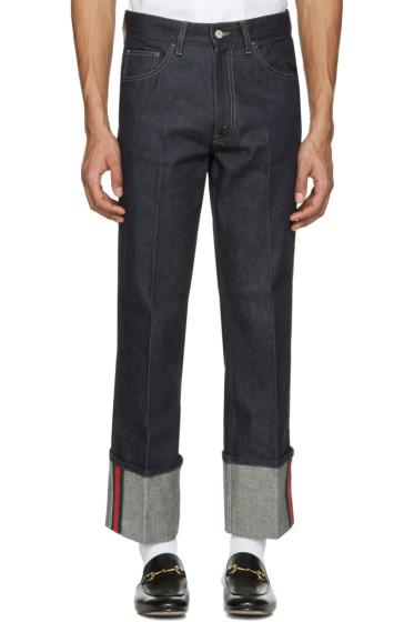 Gucci - Blue Cuff Jeans