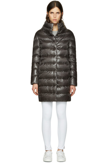 Herno - Grey Down Cocoon Coat