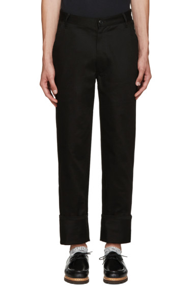 Noah - Black Work Trousers