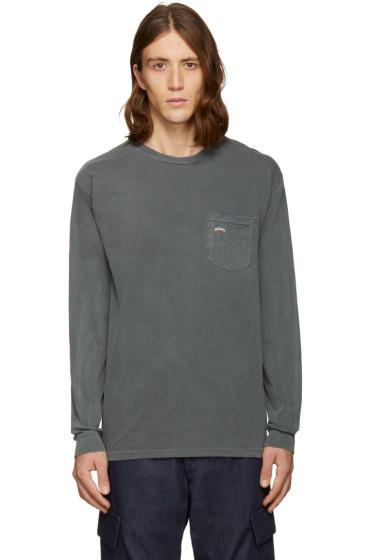 Noah - ブラック ロゴ ポケット T シャツ