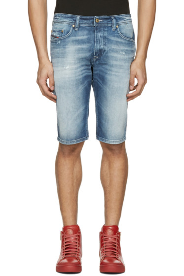Diesel - Blue Denim Thashort Shorts