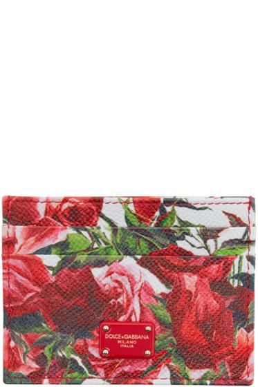Dolce & Gabbana - ピンク フローラル カード ホルダー