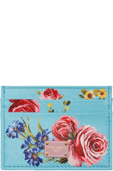 Dolce & Gabbana - ブルー フローラル カード ホルダー