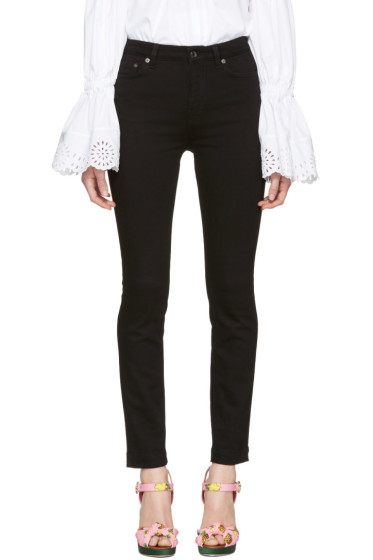 Dolce & Gabbana - Black High-Waisted Skinny Jeans