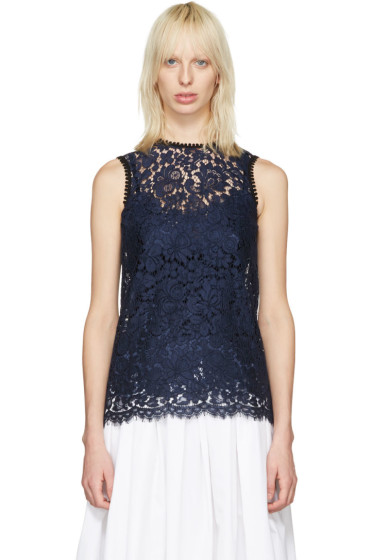 Dolce & Gabbana - Navy Lace Tank Top