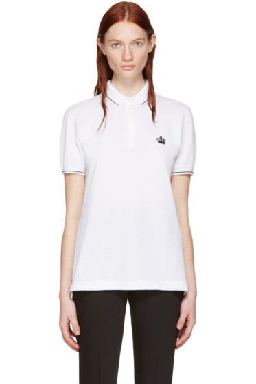 Dolce & Gabbana -  White Crown Polo
