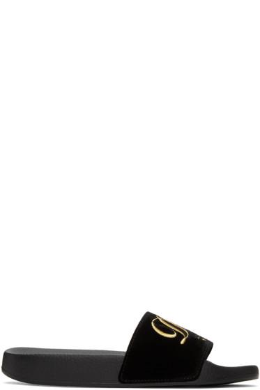 Dolce & Gabbana - Black Velvet 'Luxury Hotel' Sandals