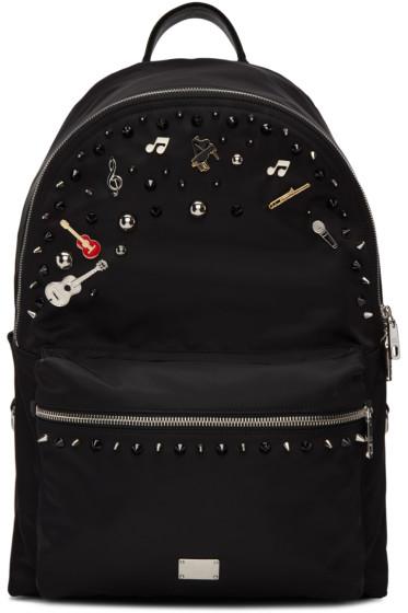 Dolce & Gabbana - Black Studs & Pins Backpack