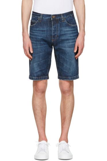 Dolce & Gabbana - Blue Denim Music Patch Shorts