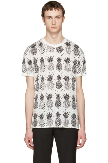 Dolce & Gabbana - White Pineapple T-Shirt