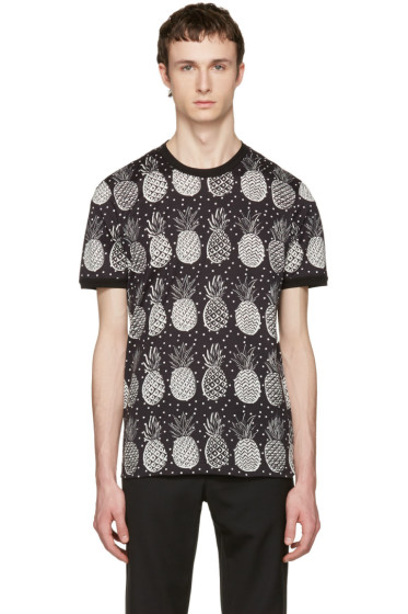 Dolce & Gabbana - Black Pineapple T-Shirt
