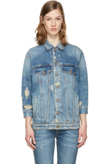 R13 - Blue Denim Oversized Trucker Jacket