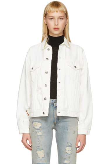 R13 - White Denim Sky Trucker Jacket