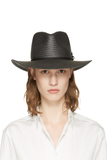 Rag & Bone - Black Packable Straw Fedora