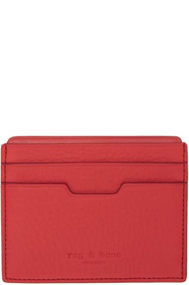 Rag & Bone - Red Leather Card Holder