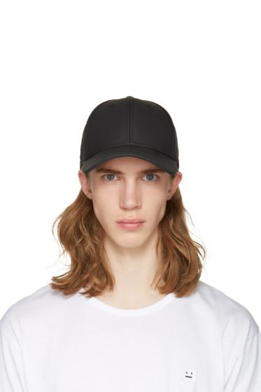 Rag & Bone - Black Leather Baseball Cap
