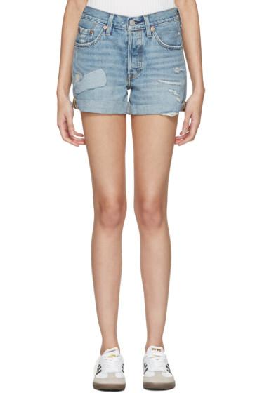Levi's - Blue Denim 501 Shorts
