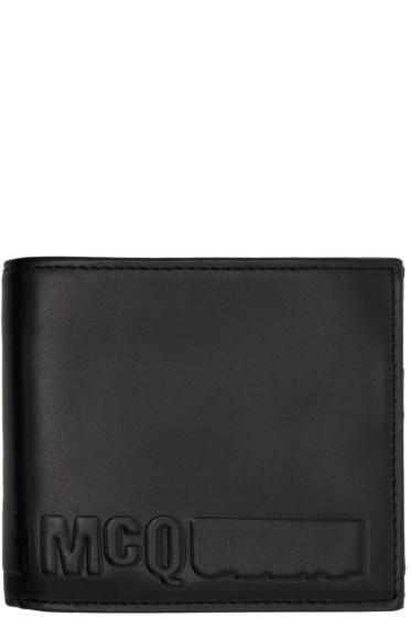 McQ Alexander Mcqueen - Black Fold Logo Wallet