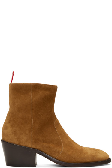 Acne Studios - Brown Suede Jesse Boots