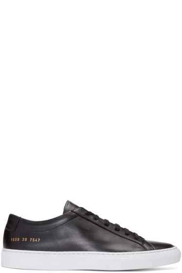 Common Projects - ブラック オリジナル アキレス ロー スニーカー